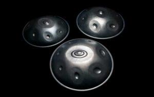 3 Saraz Handpans in verschiedenen Größen