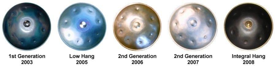 PanArt Hang Geschichte: Die verschiedenen Hang Generationen