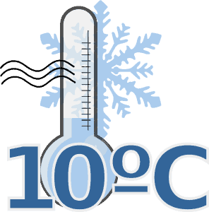 Thermometer bei -10° C