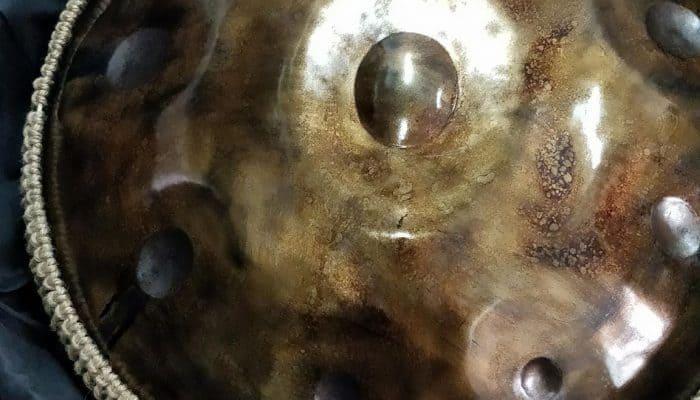 Atom Handpan in Tasche