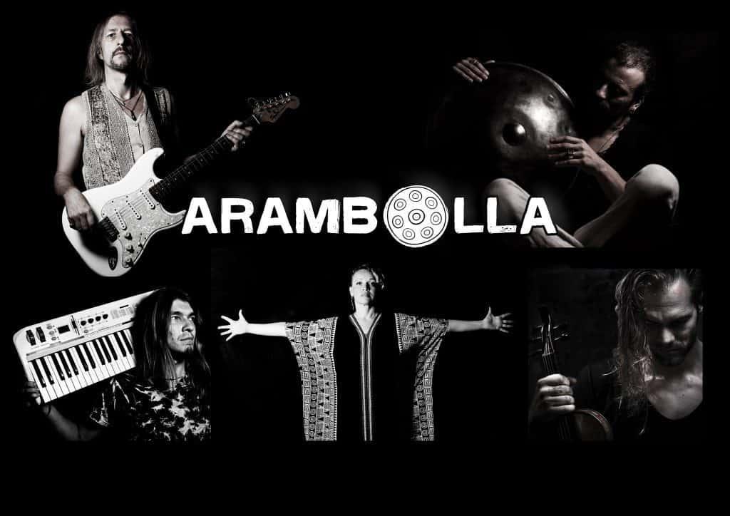 Davide Swarup mit seiner Band Arambolla