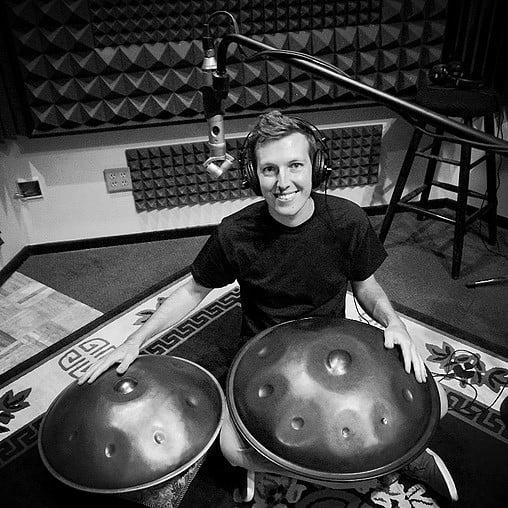 Sylvain Paslier im Aufnahmestudio