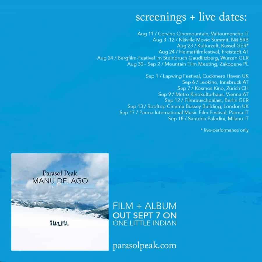 Manu Delago - Parasol Peak Filmvorführungen und Live-Auftritte