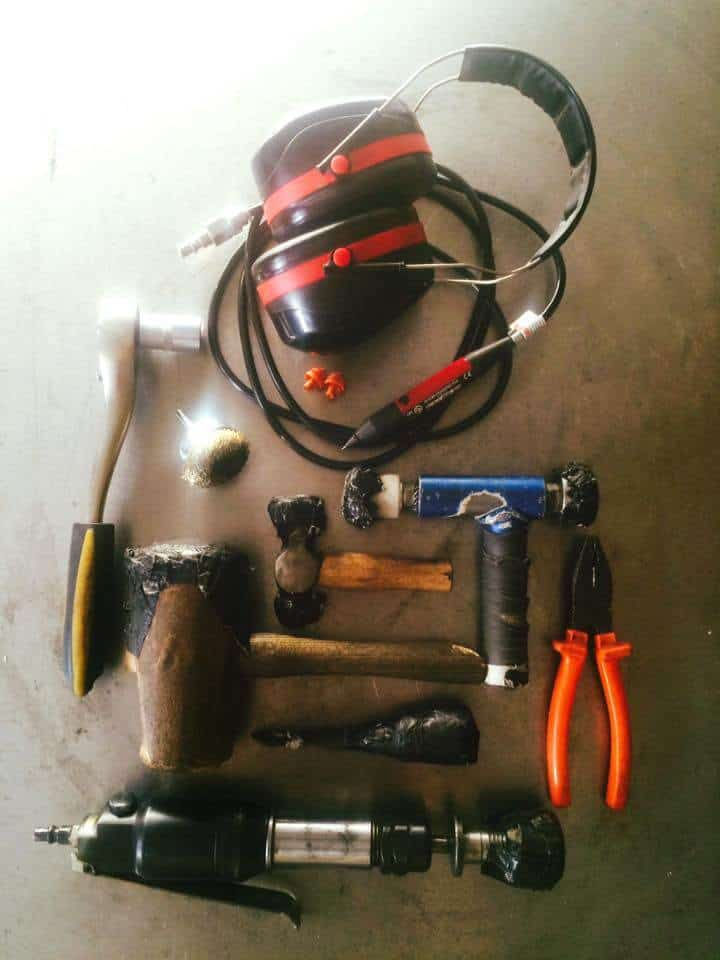 Soma Sound Sculptures, Werkzeug zur Handpan Herstellung