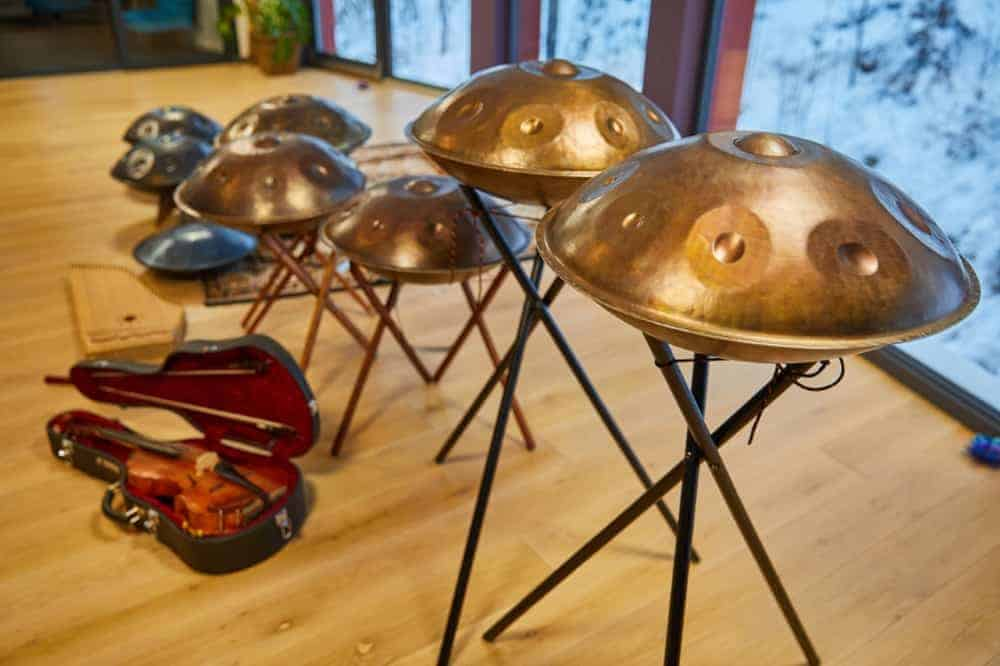 Handpans before a concert
