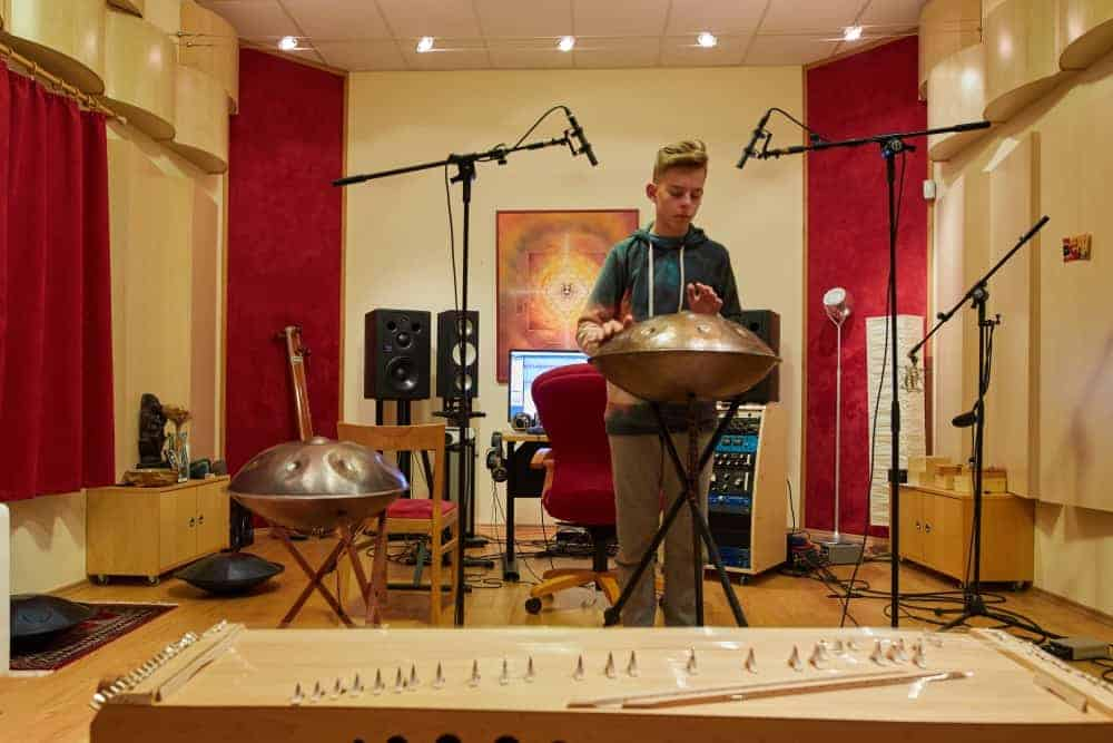 Recording in the studio