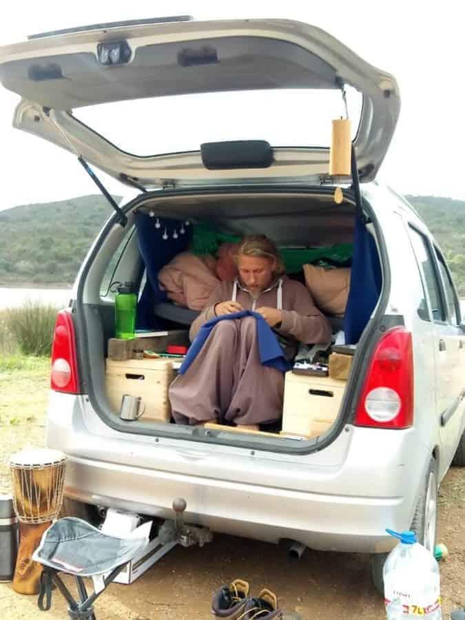 Janik Ernst im Auto