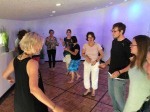 Rhythmusspiele beim Handpan-Wochenende im Juni 2019