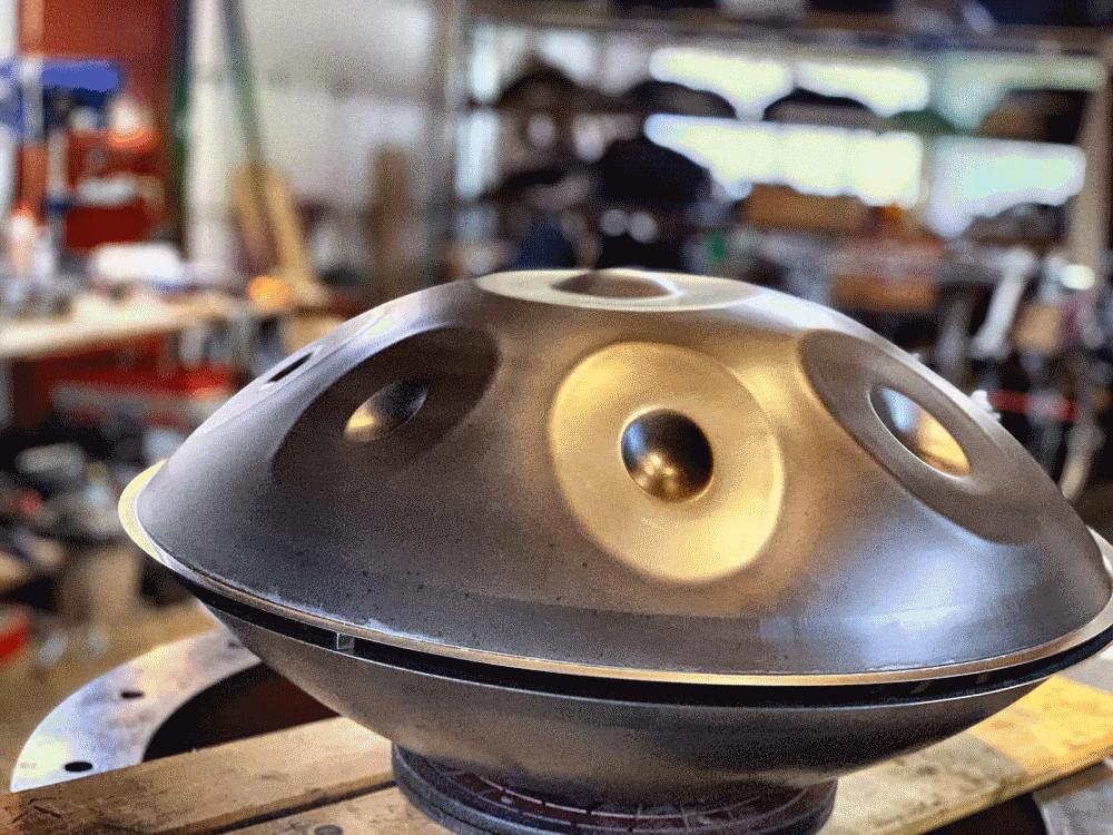 Darome Handpan in der Werkstatt