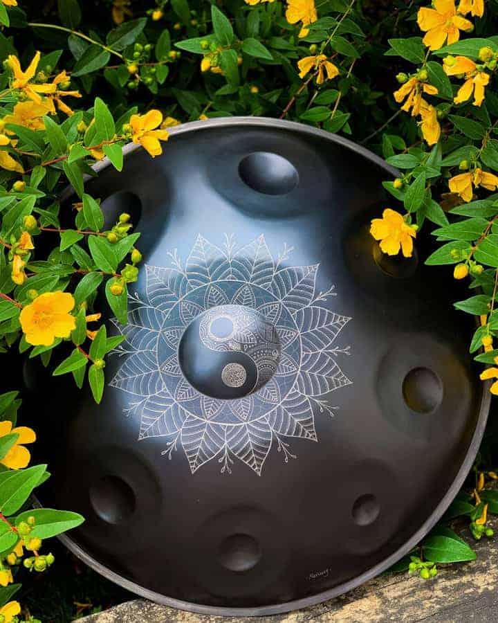 Mercury Handpan with engraving