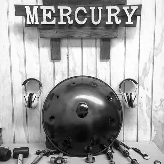 Mercury Handpans logo and handpan