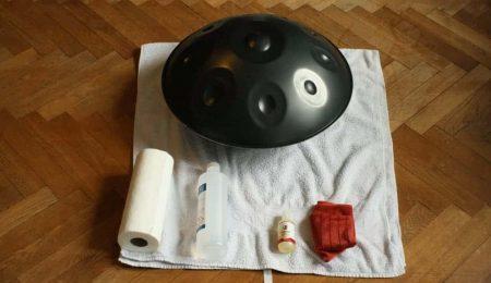 Handpan Pflege-Set: Vorbereitung mit Alkohol, Phoenix Oil und Mikrofasertuch